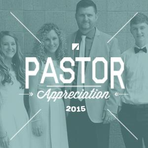 Pastor Appreciation 2015
