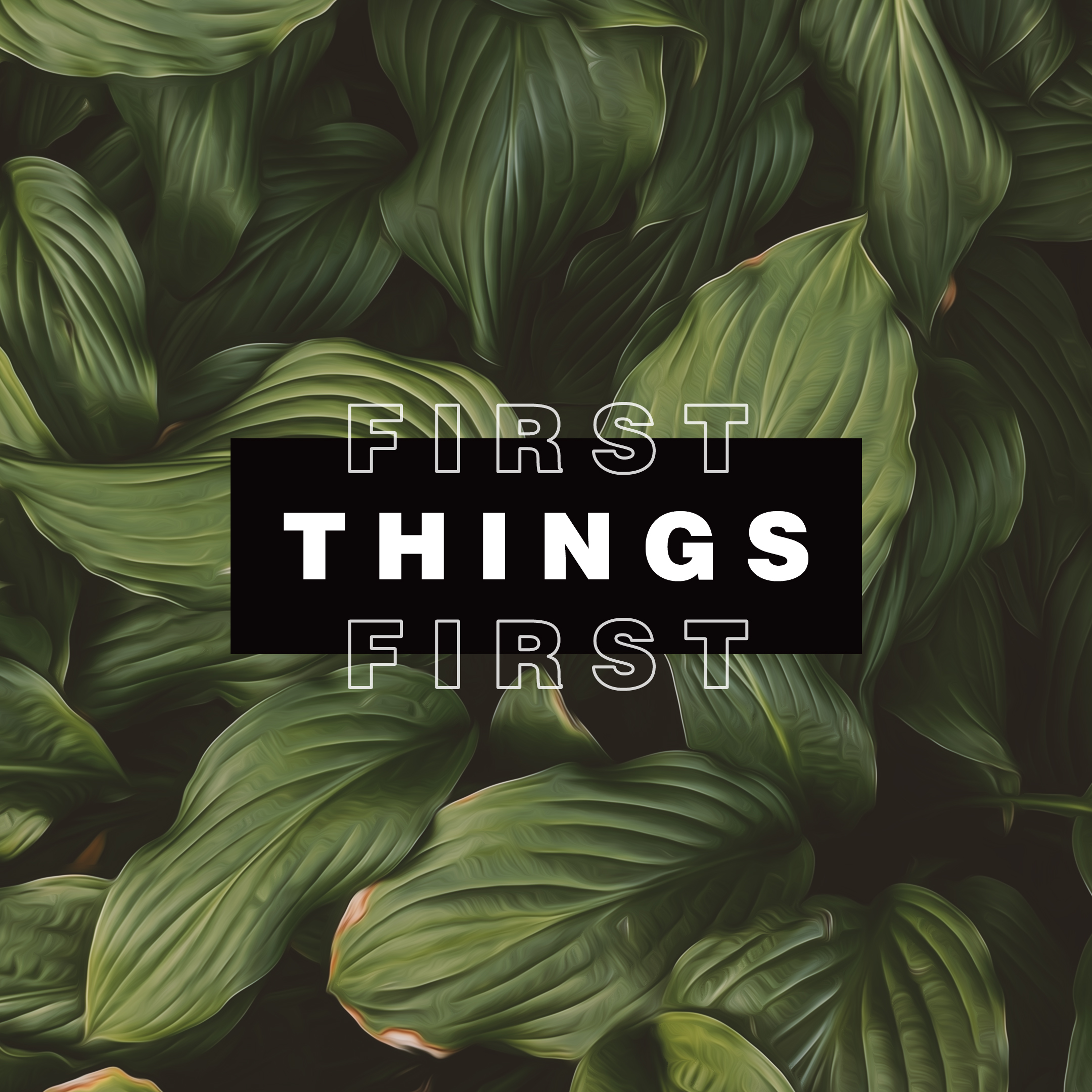 First Things First – Week Two