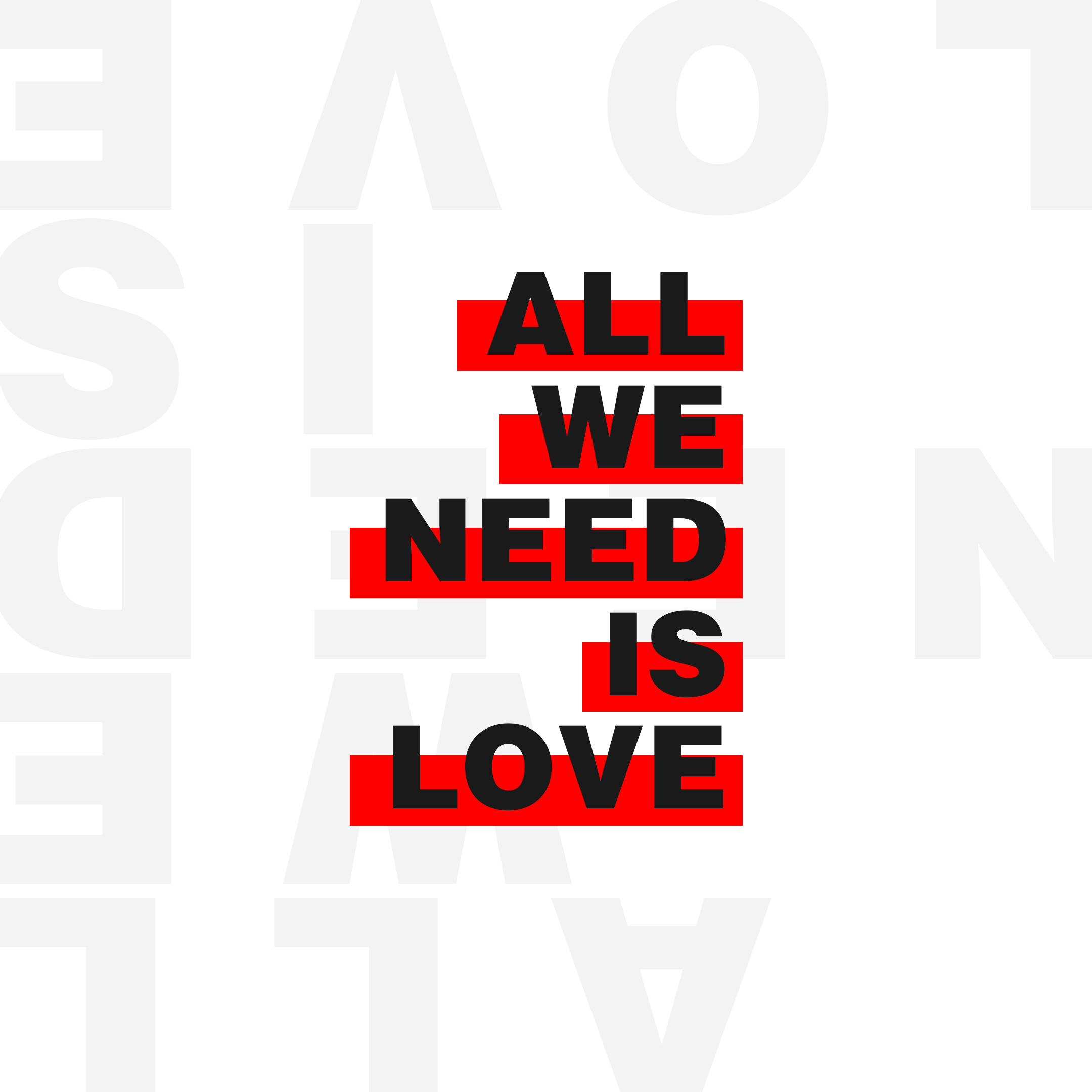 All We Need Is Love – Week Four
